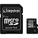 Карта памяти Kingston Technology MicroSD HC 32 ГБ class 4 (с адаптером)